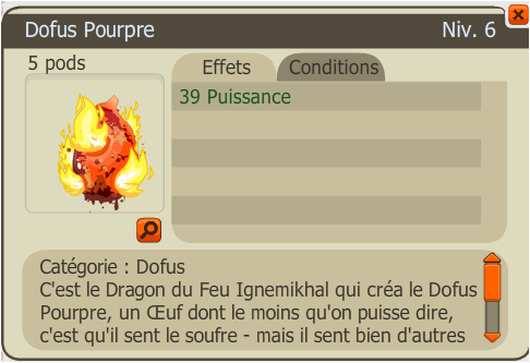 Drop Dofus Pourpre