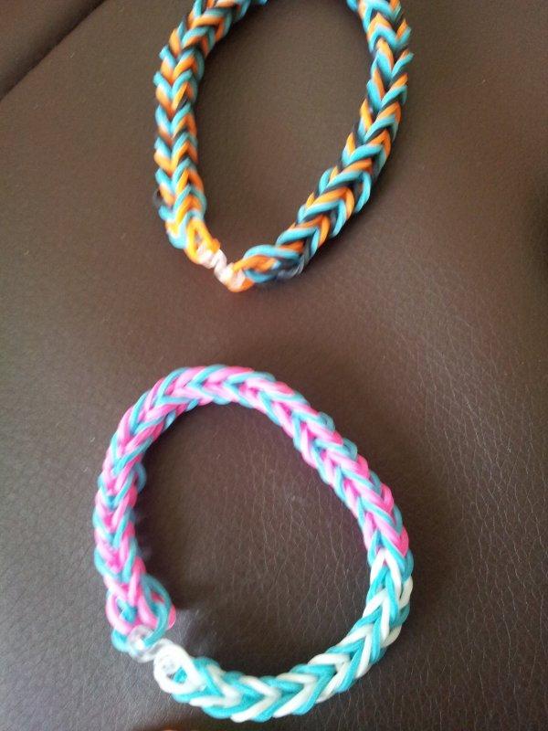 Les bracelet que je vient de finir :)