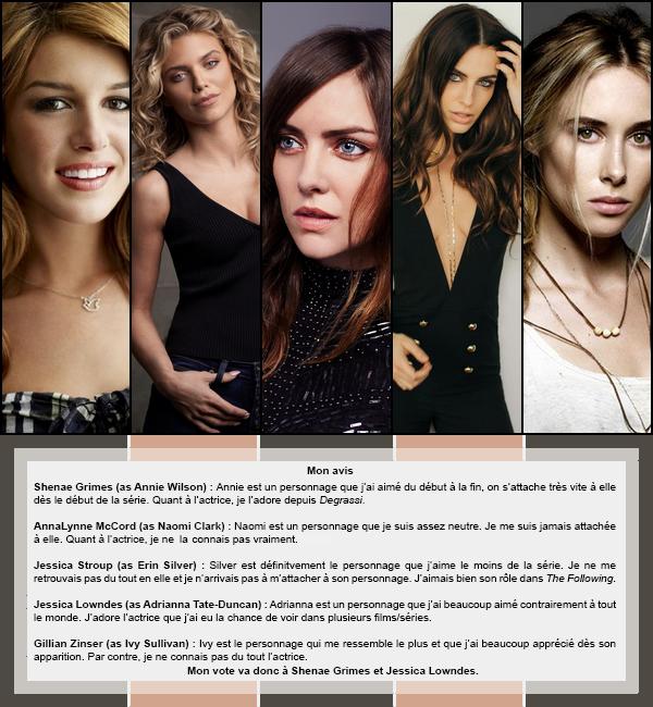 Duel #3 : Féminin  Les personnages féminins dans 90210