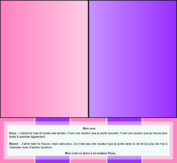 Duel #4 : Couleurs  Rose VS Mauve