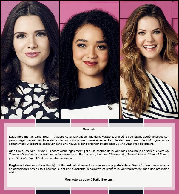 Duel #13 : Féminin  Les personnages féminins dans The Bold Type