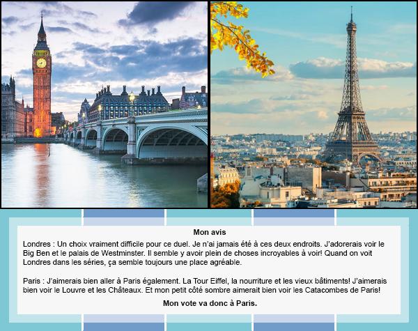 Duel #12 : Pays/Ville  Londres VS Paris