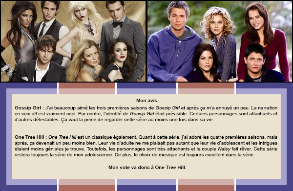 Duel #5 : Séries  Gossip Girl VS One Tree Hill