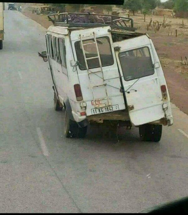 Transport dans certains zone en afrique