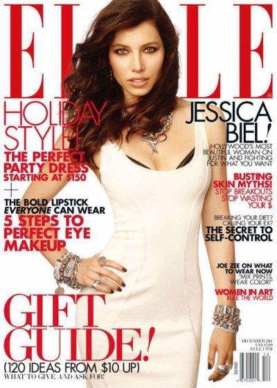 ELLE DECEMBER : Jessica Biel