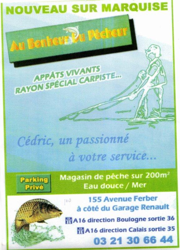 """nouveau magasin de peche """" Au Bonheur Du Pecheur"""" a Marquise"""