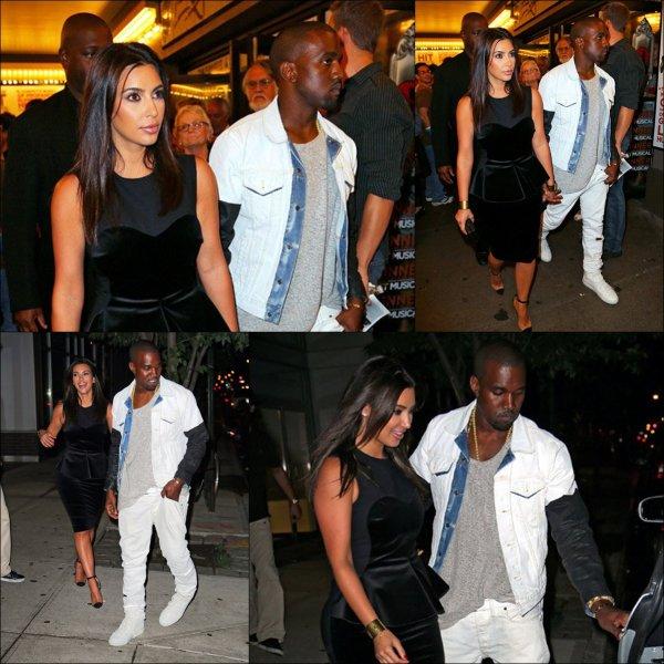Samedi 28 juillet: Kim et son chéri étaient à New York