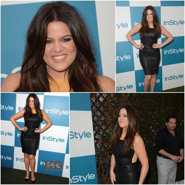 Mercredi 8 août: Khloe de cuir vêtue était à la 11ème soirée annuelle de InStyle à Hollywood pendant que Kim se pavanait avec son chéri dans les rues de New York