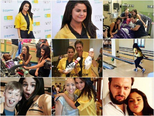 19.06.15 - Selena était présente a l'événement Big Slick Celebrity Softball Game a Kansas City.     Elle a arpenté le Red Carpet, rendu visite a des enfants dans un hôpital, fait du baseball et a également joué au bowling. Tout ça durant un week-end.
