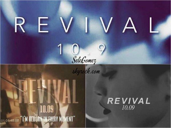 22.07.15 - C'est le jour de son anniversaire que Selena Gomez a révélé le nom de son nouvel album ainsi que sa date de sortie !    Ce nouvel album se nomme donc Revival et sera dévoilé au grand public le 09 Octobre 2015. - J'ai tellement hâte de voir cet album. Et vous ?