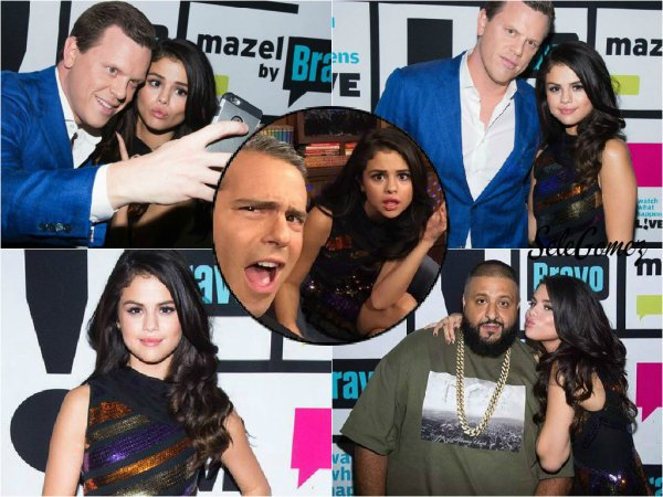 18.10.15 - Selena G. était invitée sur le plateau de l'émission Watch What Happens Live, a New York.    La robe de Sel' est plutôt jolie mais elle a déjà fait mieux. Quand pensez-vous, Top / Flop ?