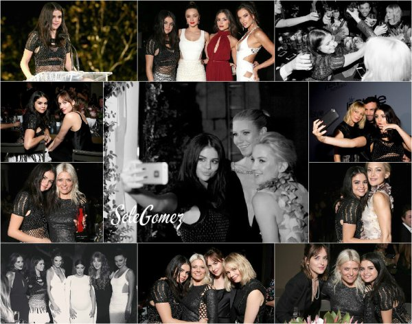 26.10.15 - C'est dans une très jolie robe que Selena Gomez a arboré le Red Carpet des InStyle Awards, a Los Angeles.       Selly était toute mignonne ! - Elle a, entre autre, posé avec Kate Young, Dakota Jonhson, Olivia Culpo et Kim Kardashian.