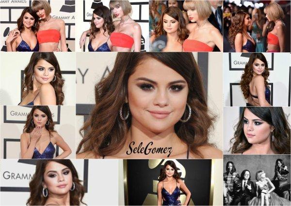 15.02.16 - Selena Gomez était présente a la cérémonie des Grammy Awards, en compagnie de sa BFF - Taylor Swift.   Sel' s'est présentée dans deux robes. La belle était aussi la présentatrice de la soirée, avec Ariana Grande. - Selena était tout simplement splendide !