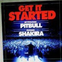 """Shakira sur le tournage du clip """" Get it Stardet """" Ft pitbul"""