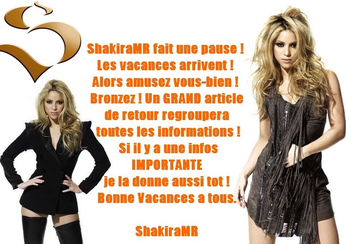 ShakiraMR fais ses valises ♥