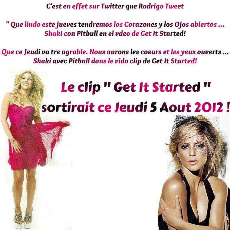 Get It Started pour Bientot ! / Shakira Soutient la Colombie pour les J.O !