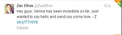 Zac Efron reprend Twitter !