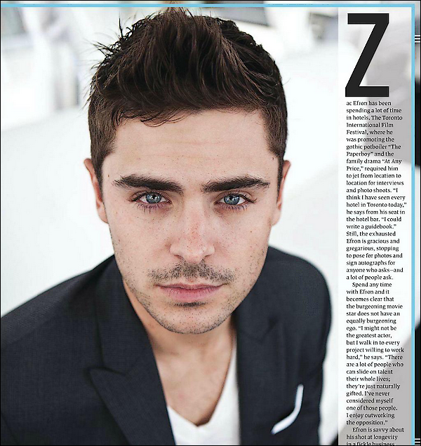 Zac Efron en couverture de Backstage
