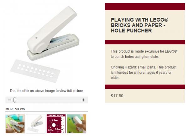 Jeu avec LEGO ® briques et papier(journal) - Perforateur de Trou