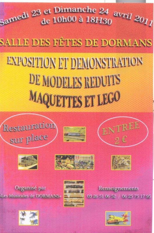 Exposition de quelques membres de Festi'briques à Dormans (51) les 23 et 24 avril 2011