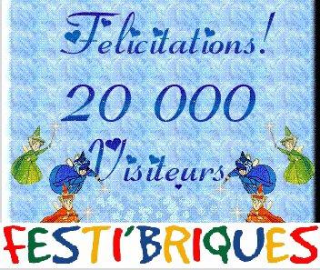 Le blog de Festi'briques est en fête ! Nous avons dépassé la barre des 20 000 visiteurs  !!!
