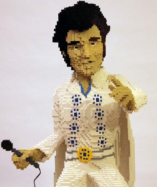 Elvis Presley par Nathan Sawaya
