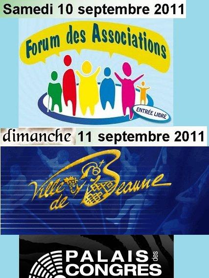 Prochaine exposition: 10 et 11 septembre palais des congrès de Beaune: le forum des associations