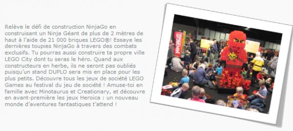 Gros événements pour Lego France : l'exposition KidExpo !