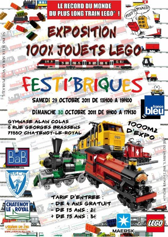 Nous vous attendons tous à la Fête des jouets Lego : Festi'briques 2011
