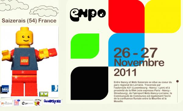 Festi'briques partenaire de l'exposition 100% Lego de Saizerai les 26 -27 Novembre près de Nancy.