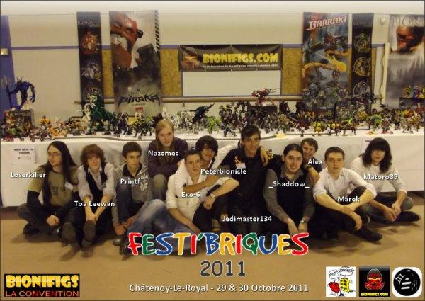 2) Les Festi'clins d'oeil aux exposants Festi'2011: l'équipe Bionifigs