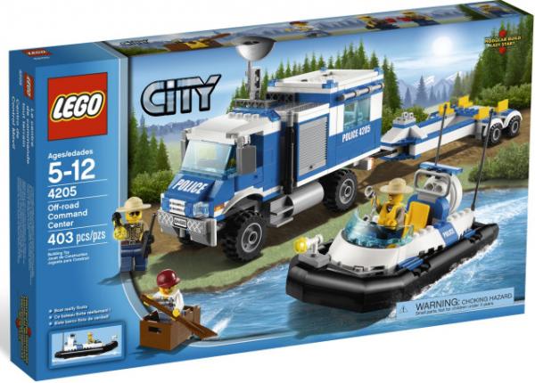 Lego 4205 - camion police avec son Zodiac !