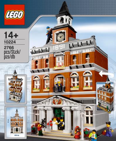 Nouveau Modular Building: Lego set 10224 Town Hall ( Sortie Mars 2012)