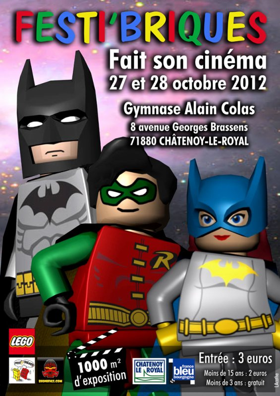Exposition d'octobre 2012: Festi'briques fait son cinéma :) ... Batman...