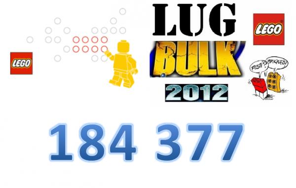 chiffre du Jour: 184377 pièces commandées ce jour dans le cadre du LugBulk de chez Lego par les membres de Festi'briques