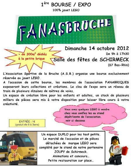 Fanabriques: L'A.S.B organise sa première bourse 100% Lego à Schirmeck le dimanche 14 Octobre 2012.
