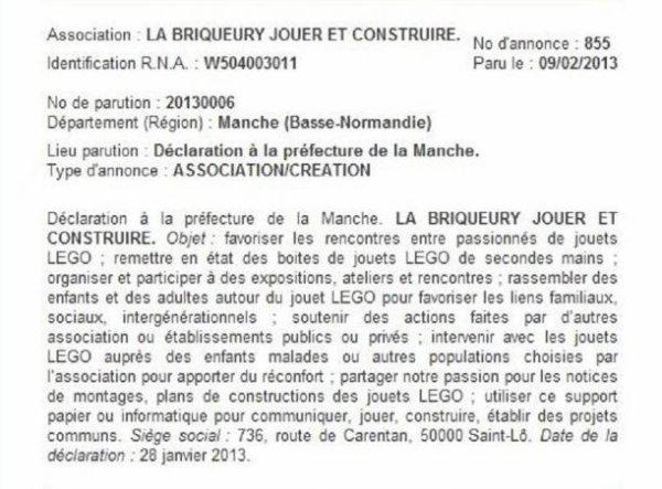 Naissance d'une nouvelle association d'AFOLs: La BRIQUEURY -Région Basse Normandie