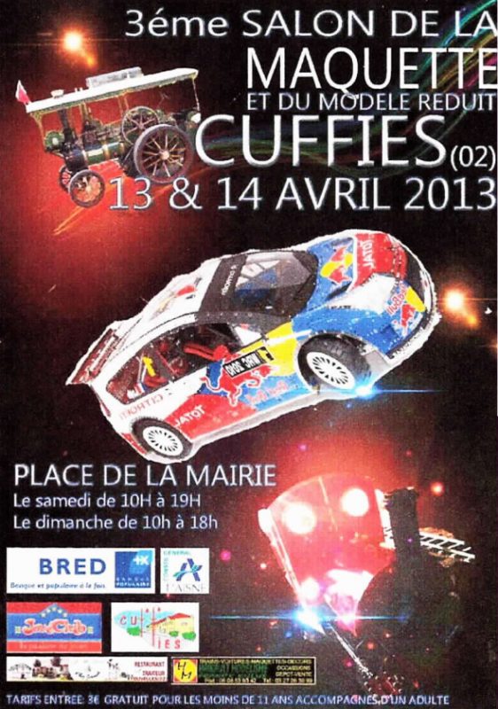 Première exposition de l'association Festi'briques Champagne-Ardennes: salon de la maquette et du modèle réduit de  CUFFIES 13 et 14 avril 2013