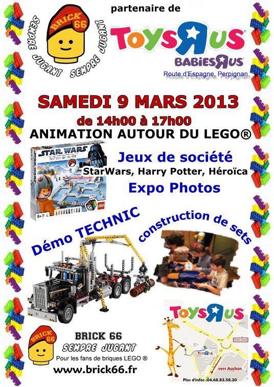"Toys ""R"" Us Perpignan animation le 9 mars  2013"