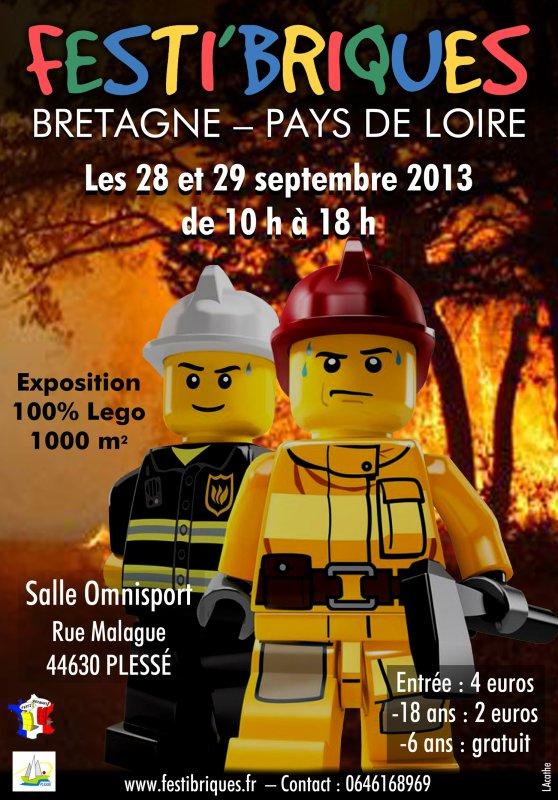 Exposition annulée pour 2013: Festi'briques Bretagne-Pays de Loire: exposition 100% Lego près de Nantes