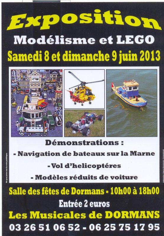 Prochain événement Festi'briques: exposition de modélisme et de Lego de Dormans (51) 8 et 9 juin 2013