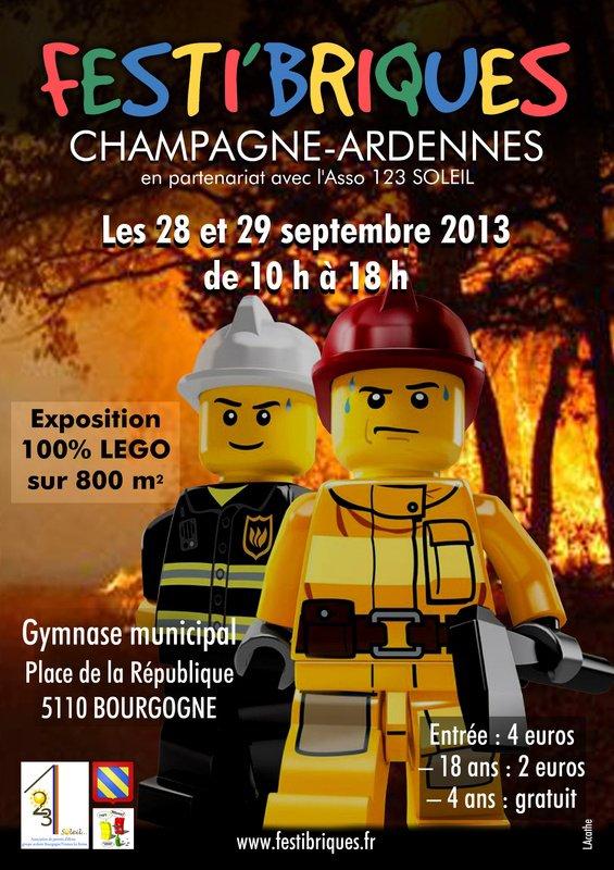 1ère Exposition 100% Lego de Festi'Briques Champagne Ardennes les 28 et 29 septembre