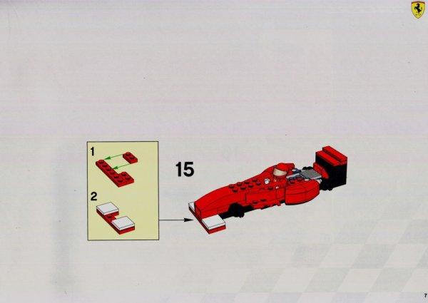 Comment fabriquer une jolie F1 grâce au set N°8375: le plan