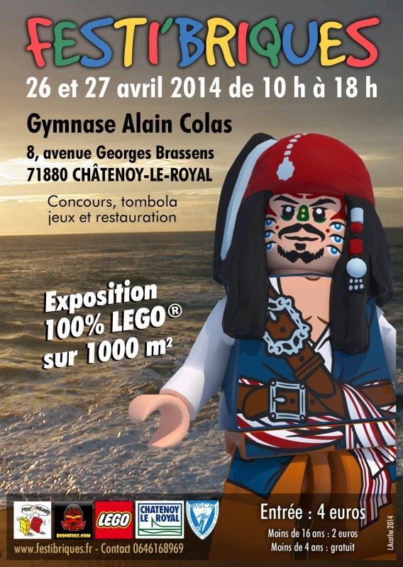 Exposition 100% Lego Festi'briques 2014 1ier semestre - Châtenoy-Le-Royal (71880)