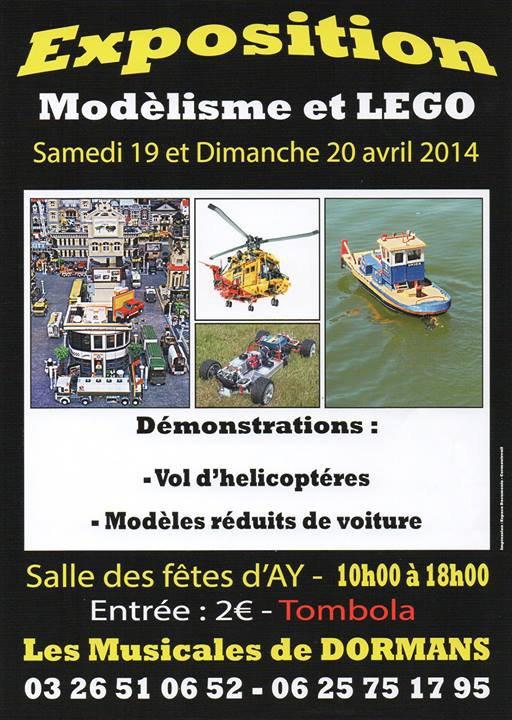 Prochaine exposition des Festi'briques EXPO modélisme d'AY (51) 19 et 20 avril 2014