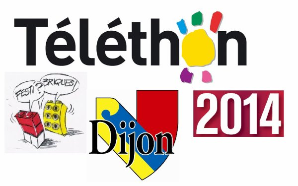 Dijon 2014: Inédit en France: exposition 100% Lego -  Festi'briques - spécial Téléthon 5-7 décembre 2014