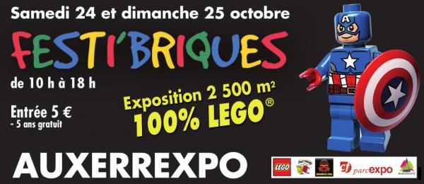 Prochaine exposition Festibriques 24 et 25 octobre 2015 à AUXERRE