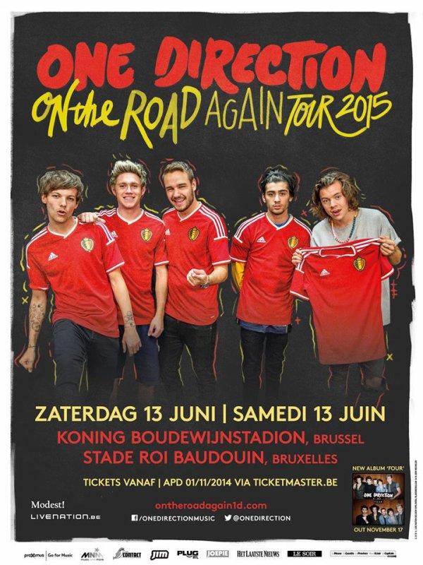 Les boys viendrons en Belgique le 13 juin à Bruxelles et les places sont en vente le 1 novembre