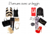 2 tenues avec un leggin -Day and Night-