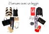 2 tenues avec un leggin -Day and Night-